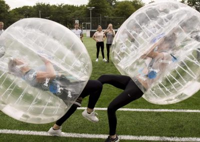 Bubble voetbal bump