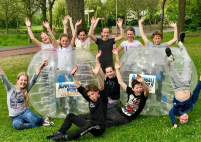 Bubble voetbal kinderfeestje