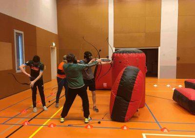 Archery tag bedrijfsfeestje binnen
