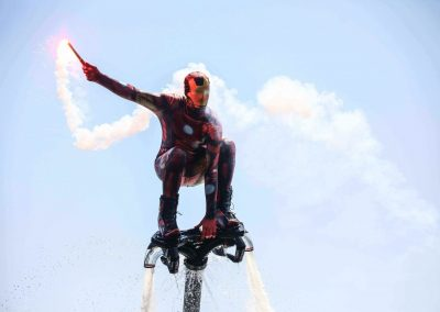 Iron man flyboard show